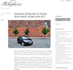 Autophorie.de Toyota Auris Hybrid im Test