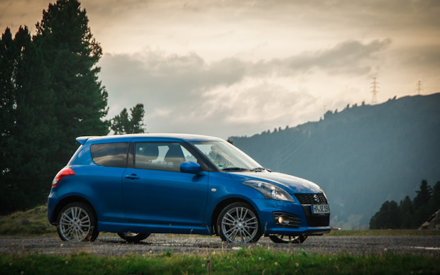 Mit dem Suzuki Swift Sport in den Alpen